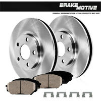 Front Max Brakes Geomet OE Rotors with Carbon Ceramic Pads KT039761