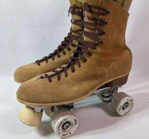 Vintage Classic Sure-Grip Jogger Precision Suede Roller Skates Size 9 Derby