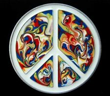 Belt Buckle Buckles! Awesome Psychedelic Peace Sign