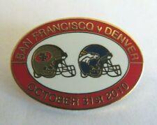 SAN FRANCISCO 49ERS DENVER BRONCOS NFL LONDON OCTOBER 2010 OVAL BADGE