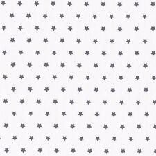 Scampolo Tessuto stoffa a stelle grigio scuro cotone cucito creativo cm 73 x 160