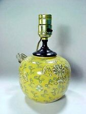 Chinese Export Enameled Yellow Round Ball Lamp Da Qing Qianlong Mark,