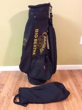 Rare Callaway Big Bertha S2H2 Black Carry Lite Golf Bag w/rain cover