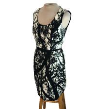 Taylor Mini Pencil Dress Black White Size 4