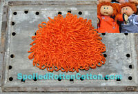 Cabbage Patch Kid Crochet Hat Wig  Short Hair in Carrot Infant Toddler Adult CPK