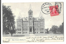 High School, Newark,Licking County, Ohio PPC, 1906 Niles PMK to Jersey