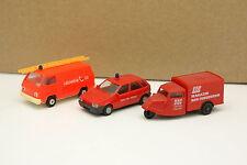 Rietze 1/87 HO - Lot de 2 Mitsubishi L300 + Fiat Tipo + Tempo Pompiers Feuerwehr