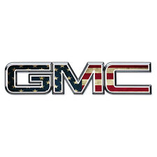 07-17 GMC Sierra Yukon AMERICAN FLAG Front Grill Emblem Overlay Kit Decal