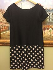 Adolfo Dominguez Black Texture Dress Size 40