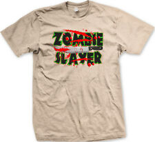 Zombie Slayer Knife Blood Dead Walking Undead Kill Eat Brains Hunt Men's T-Shirt