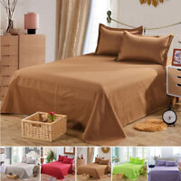 Terylene Bed Sheet Solid Color Bedclothes Three Sizes Bedroom Accessories