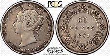 1873 Newfoundland Silver 50 Cents PCGS VF-35