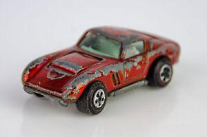 Vintage Johnny Lightning Topper Series Orange Custom Ferrari Diecast Car - 1:64