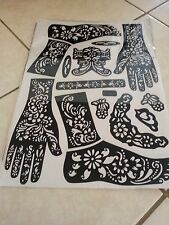 One sheet Self Adhesive Decal Stencils Henna temporary tattoo children size