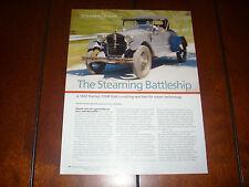 1922 STANLEY STEAMER STEAM CAR  - ORIGINAL 2008 ARTICLE