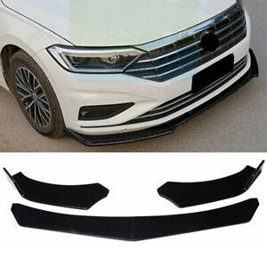 Fit For VW Jetta Sedan 2019-2021 Black Front Bumper Lip Spoiler Splitter Wing