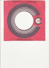 Commonwealth United Records- Original 45 Record Company Sleeve