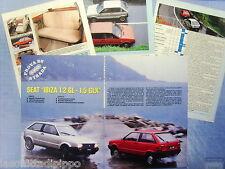 QUATTROR984-PROVA SU STRADA/ROAD TEST-1984- SEAT IBIZA 1.2GL E 1.5GLX -5 fogli