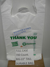 5 cs.LOT 700 COUNT 100% OXO- BIODEGRADABLE PLASTIC BAG RECYCLABLE ECO TAKE OUT