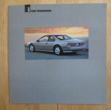 FORD THUNDERBIRD orig 1991 Canadian Mkt Large Format Brochure Catalogue Sport LX