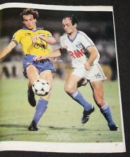 football poster Bernard Zenier v Dreossi olympique de Marseille Sochaux 1984-85