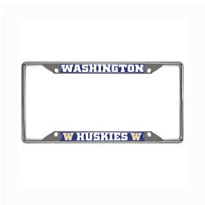 New NCAA Washington Huskies Car Truck Chrome Metal License Plate Frame