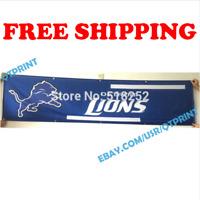 Detroit Lions Banner Flag 2x8 ft 2020 NFL Fan Club Wall Home Decor NEW