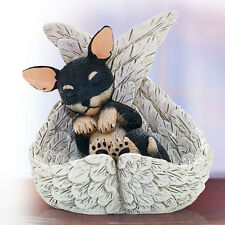 Chihuahua Precious Leave Paw Prints Dog in Angel Wings Figurine New