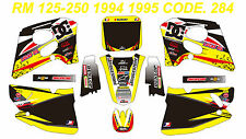 284 SUZUKI RM 125-250 1994 1995 Autocollants Déco Graphic Sticker Decal