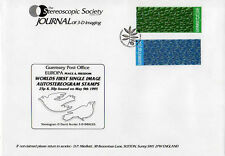 Guernsey Europa Peace & Freedom Autostereogram 3-D Stamps 1995 First Day Cover