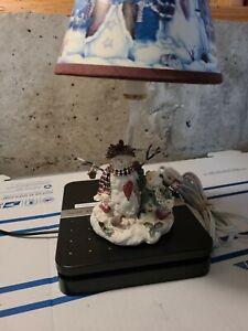 Vintage  Snowman Christmas Table Accent Lamp