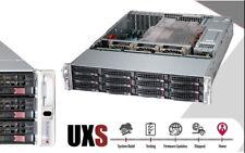 UXS Server 2U Supermicro FREENAS 12 Bay 2x E5-2670 V2 128GB 6x 8TB SATA HD