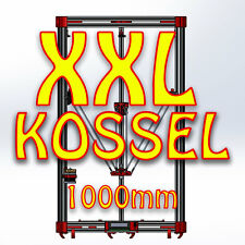 UK XXL delta Kossel Delta Rostock 3D Printer KIT 1 METER TALL FRAME 4020 BLACK