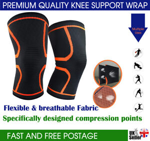 Copper Knee Support Compression Sleeve Brace Patella Arthritis Pain Relief Gym