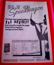 REO Speedwagon Hi Infidelity Vintage ORIG 1981 Press/Magazine ADVERT Poster-Size
