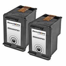 2 CH561WN 61 Black Printer REMAN Ink Cartridge for HP HP61 Deskjet 1000 1050