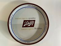 """Vintage Schlitz Beer 13"""" Round Metal Serving Tray Double Sided Milwaukee WI"""
