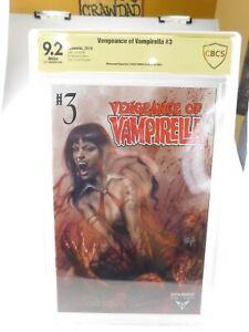 VENGEANCE OF VAMPIRELLA #3 VARIANT LUCIO PARRILLO Signed CBCS 9.2 graded