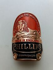 PHILLIPS Red Color Head Badge Emblem For Phillips Vintage Bicycle NOS