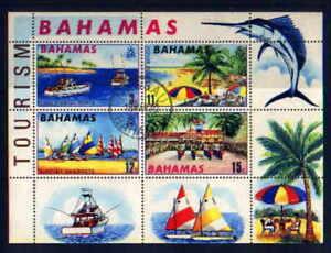 BAHAMAS 1969 Souvenir Sheet Used Scott Catalog # 293a   TOURISM   GAME FISHING