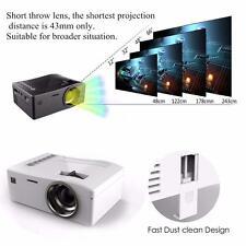 HD Multimedia Projector Home Cinema Theater Video HDMI USB AV 1080P White EU TR