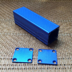 Project Aluminum Electronics Enclosure Case Metal Junction Box 80x25x25mm Blue