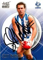 ✺Signed✺ 2011 NORTH MELBOURNE KANGAROOS AFL Card SCOTT MAHON