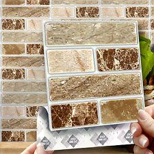 8 Onyx Piedra Pegar En Auto Adhesivo Pegatinas Azulejo de la pared para la Cocina & Cuarto De Baño