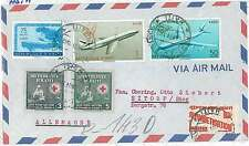 RED CROSS  EDUCATION  MAPS  AIRPLANES -  POSTAL HISTORY: COVER -  HAITI  1962