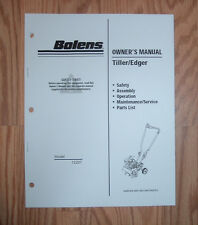 BOLENS 12207 TILLER EDGER OWNERS  MANUAL WITH ILLUSTRATED PARTS LIST
