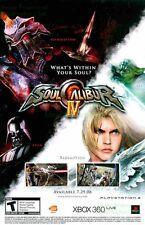 Soul Calibur IV: Star Wars - Yoda, Darth Vader: Great Original Print Ad!