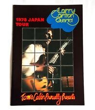 LARRY CARLTON QUARTET 1978 JAPAN TOUR CONCERT PROGRAM BOOK