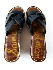 "Sam Edelman Wedged Sandals Raynere Slip Ons Size 6.5 NWOT 3"" Cork Heels"