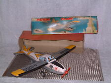MOMOYA FRICTION PATROL PLANE TIN VINTAGE PLANE. FULLY OPERATIONAL W/ORIGINAL BOX